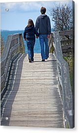 Moments With Dad Acrylic Print by Karol Livote
