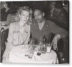 Acrylic Print featuring the photograph Momma And Daddy In 1949 by Alga Washington