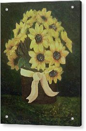 Acrylic Print featuring the painting Mom's Bouquet by Christy Saunders Church