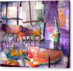 Mom's Table Acrylic Print by J Christian Sajous