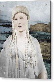 Mona Lisa  Acrylic Print by Karine Percheron-Daniels