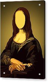 Mona Lisa Acrylic Print by Setsiri Silapasuwanchai
