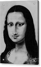 Monalisa Acrylic Print by Shashi Kumar