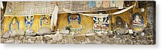 Monastery Building Near Lhasa. Buddhist Acrylic Print by Phil Borges