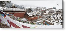 Monastery In Valley Of Druk-chu At Acrylic Print by Phil Borges