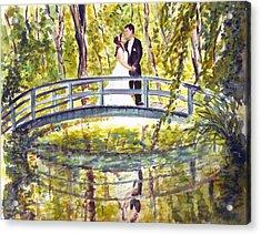 Acrylic Print featuring the painting Monet Wedding by Clara Sue Beym
