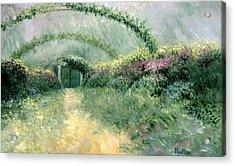 Monet's Trellis IIi Acrylic Print