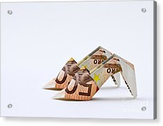 Money For Shoes Acrylic Print by Catherine MacBride
