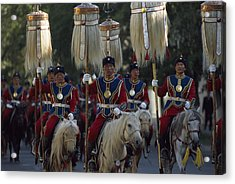 Mongol Armed Forces Acrylic Print by James L. Stanfield
