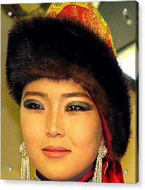 Mongolian Model Acrylic Print