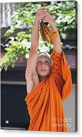 Acrylic Print featuring the photograph Monk In The Bell Tower #2 by Nola Lee Kelsey