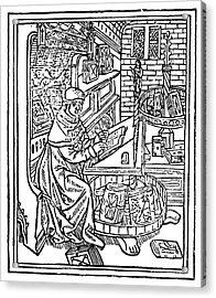 Monk: Scribe, 1488-89 Acrylic Print by Granger