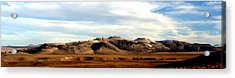 Mono Craters Panorama Acrylic Print