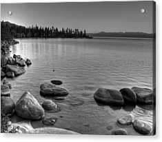 Monochrome Lake Tahoe Sunset Acrylic Print