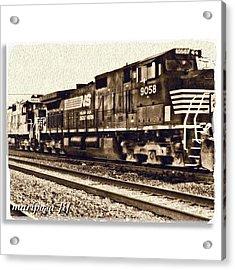 Monochrome Rail Acrylic Print