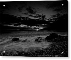 Monochrome Sunset  Acrylic Print