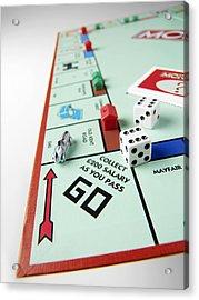 Monopoly Board Game Acrylic Print by Tek Image