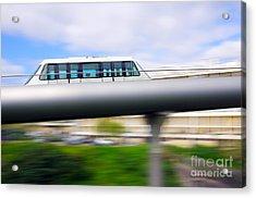 Monorail Carriage Acrylic Print by Carlos Caetano
