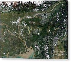 Monsoon Floods Acrylic Print by NASA / Science Source