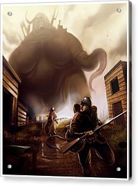 Acrylic Print featuring the digital art Monster Attack by Michael Myers