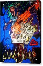 Monster Vocals Acrylic Print by Ragdoll Washburn