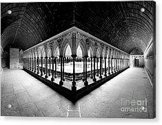 Mont Saint Michel Monastery Inner Court Acrylic Print