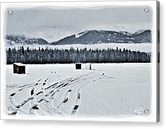 Acrylic Print featuring the photograph Montana Ice Fishing by Janie Johnson