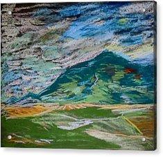 Montana Range Acrylic Print by Francine Frank