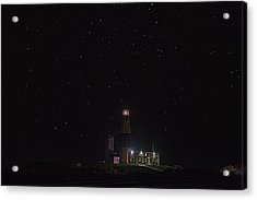 Montauk Starry Night Acrylic Print by William Jobes