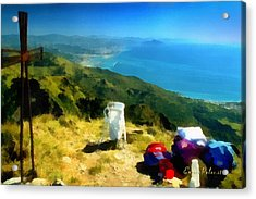 Monte Rama E Panorama Su Genova Acrylic Print