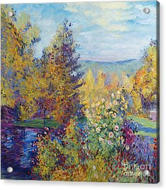Montgeron  Garden Sur Les Traces De Monet  Acrylic Print