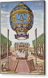 Montgolfier Hot Air Balloon Acrylic Print by Science Source