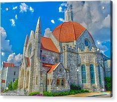 Montgomery Baptist Church Hdr Acrylic Print by Shannon Harrington