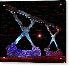 Monument On Planet X Acrylic Print