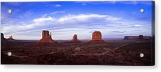 Monument Valley At Dusk Acrylic Print by Andrew Soundarajan