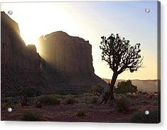 Monument Valley At Sunset Acrylic Print by Mike McGlothlen