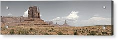 Acrylic Print featuring the pyrography Monument Valley Desert Large Panorama by Mike Irwin