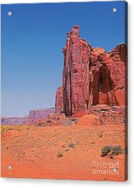 Monument Valley Elrphant Butte And Hogan Acrylic Print by Rich Walter