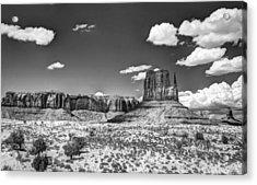 Monument Valley In Monochrome  Acrylic Print by Saija  Lehtonen