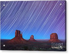 Monument Valley Star Trails  Acrylic Print