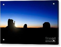 Monument Valley Sunrise Acrylic Print by Jane Rix