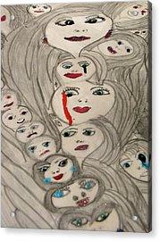 Moods Acrylic Print by HollyWood Creation By linda zanini