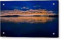Moody Blue Acrylic Print by Mitch Shindelbower