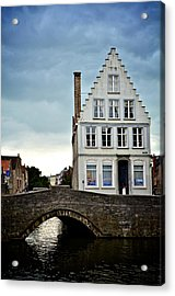 Moody Bruges Acrylic Print