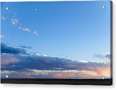 Acrylic Print featuring the photograph Moon Above The Horizon by Monte Stevens