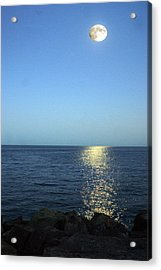 Moon And Water Acrylic Print