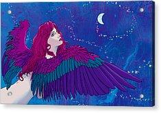 Moon Angel Acrylic Print by Vincent Danks