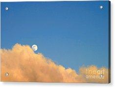 Moon At Sunset Acrylic Print