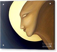 Moon Diva Acrylic Print by Joanna Pregon