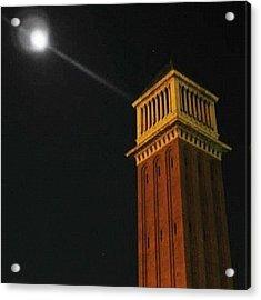 Moon In Placa D'espanya, Barcelona Acrylic Print